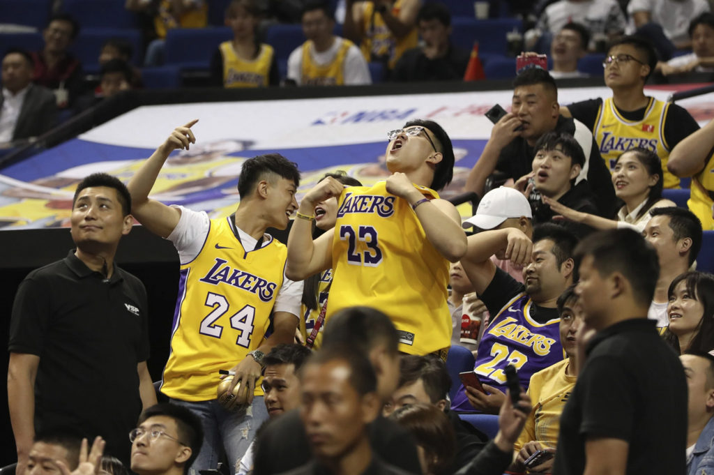 NBA fans stand with Hong Kong in anti-China displays