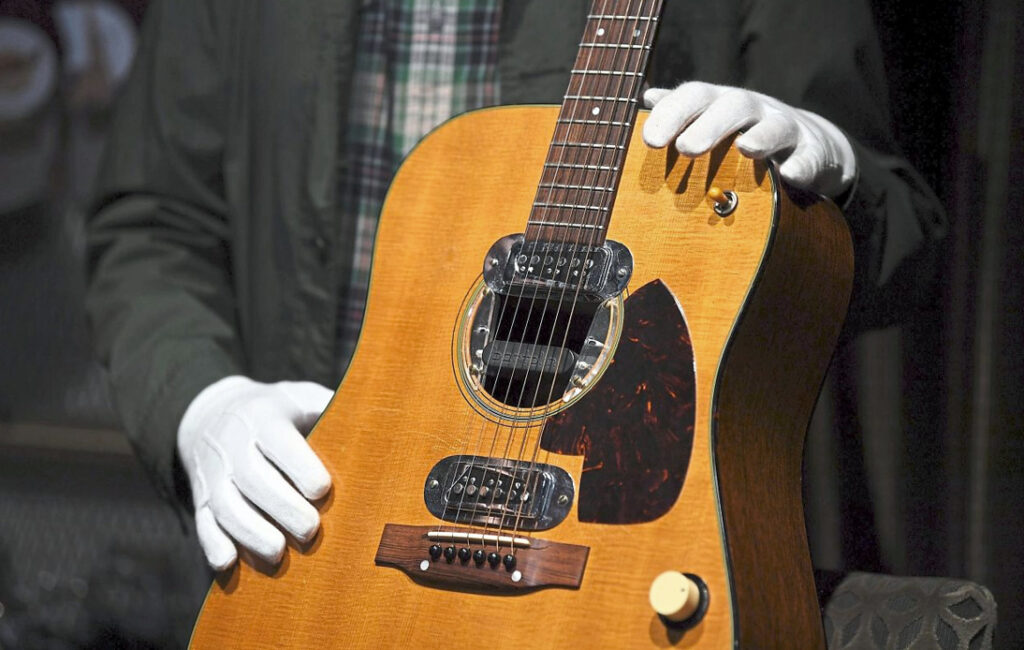 Cobain 'Unplugged' Guitar Sold for Record $6 Million at Auction