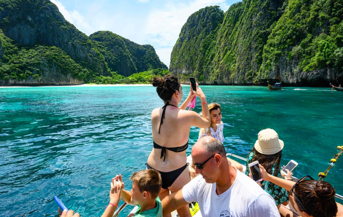 Tourists in the South of Thailand
