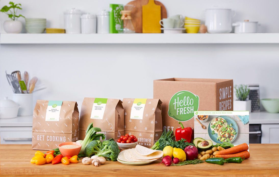 Hello Fresh vegetarian delivery box