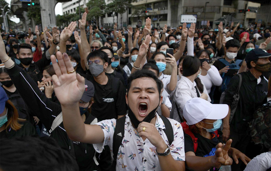 Protesters at Ratchaprasong Intersection