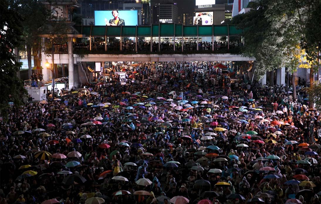 Protesters in Bangkok, 15th October 2020