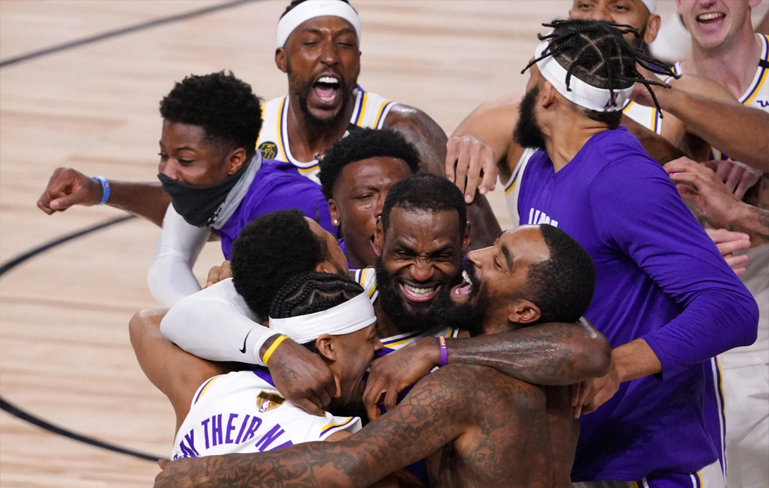 The Lakers wins NBA 2020